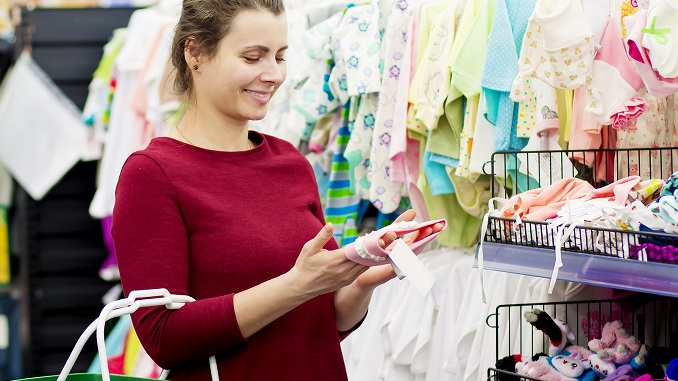buying baby clothes - baby market